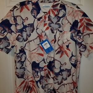 Men's Columbia Size Medium Short Sleeve Shirt